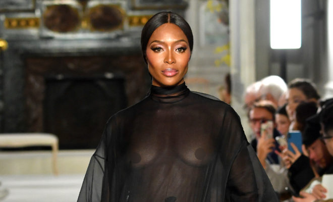 de8e0bc56b Fashion News. Naomi Campbell and her Nipples Closed Valentino s Couture ...