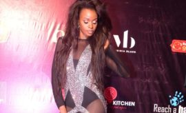 910f00151b29 Hellen Lukoma Wears Dramatic  Naked  Jumpsuit to Miss Uganda 2018 Finale